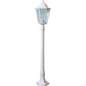 Светильник садово-парковый 6210 100W 230V E27 195*195*1200мм белый СТОЛБ