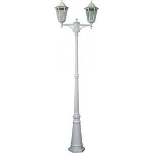 Светильник садово-парковый 6214 2*100W 230V E27 590*195*2200мм белый