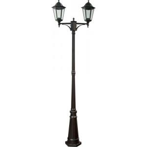 Светильник садово-парковый 6214 2*100W 230V E27 590*195*2200мм черный