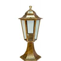 Светильник садово-парковый 6104 60W 230V E27 170*150*370мм черное золото