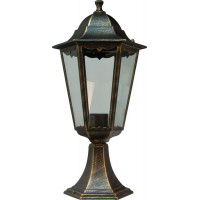 Светильник садово-парковый 6204 100W 230V E27 195*195*455мм черное золото