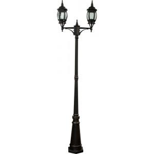 Светильник садово-парковый 8114 2*100W 230V E27 155*590*2290мм черный