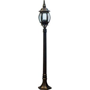 Светильник садово-парковый 8110 100W 230V E27 160*160*1200мм черное золото