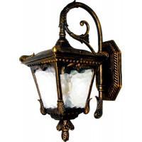 Светильник садово-парковый 9003QS 60W 230V E27 190*275*415мм черное золото (на стену, вниз)