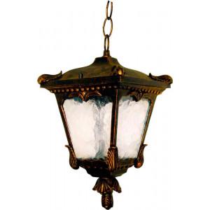 Светильник садово-парковый 8003S 60W 230V E27 190*190*325мм черное золото (на цепочке)