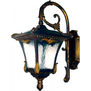 Светильник садово-парковый 9003QM 100W 230V E27 335*230*500мм черное золото (на стену, вниз)