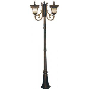 Светильник садово-парковый 70032M 2*100W 230V E27 230*680*2250мм черное золото (столб 2,25м) ОТК
