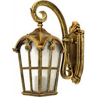Светильник садово-парковый PL103 60W 230V E27 150*260*430мм черное золото, на стену вниз