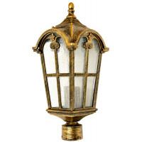Светильник садово-парковый PL104 60W 230V E27 150*150*380мм черное золото (на столб 0,38м)
