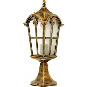 Светильник садово-парковый PL105 60W 230V E27 150*150*440мм черное золото (на постамент 0,45м)