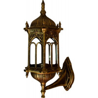 Светильник садово-парковый PL113 60W 230V E27 205*240*470мм черное золото (на стену вниз)