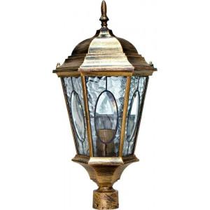 Светильник садово-парковый PL152 60W 230V E27 240*240*520мм черное золото (большой, на столб 0,46М)