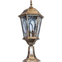 Светильник садово-парковый PL154 60W 230V E27 240*240*550мм черное золото (большой, на постамент 0,54М)