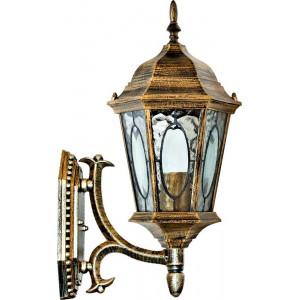 Светильник садово-парковый PL160 60W 230V E27 205*245*440мм черное золото (малый, на стену вверх)