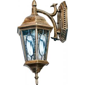 Светильник садово-парковый PL161 60W 230V E27 200*250*425мм черное золото (малый, на стену вниз)