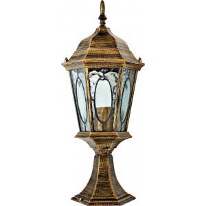 Светильник садово-парковый PL163 60W 230V E27 205*175*480мм черное золото (малый ,на постамент 0,48М)