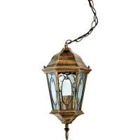 Светильник садово-парковый PL164 60W 230V E27 205*175*395мм черное золото (малый, на цепочке)