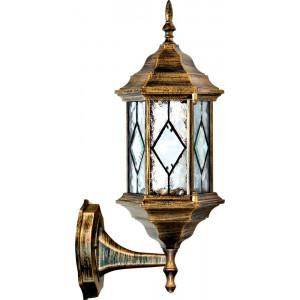 Светильник садово-парковый PL121 60W 230V E27 165*200*430мм черное золото, на стену вниз