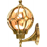 Светильник садово-парковый PL3801 60W 230V E27 220*260*380мм черное золото (на стену вверх)