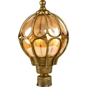Светильник садово-парковый PL3803 60W 230V E27 220*220*370мм  черное золото (на столб)