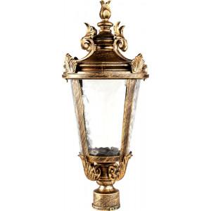 Светильник садово-парковый PL4003 60W 230V E27 230*230*480мм черное золото (на столб)