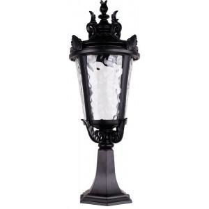 Светильник садово-парковый PL4004 60W 230V E27 230*230*570мм черный, на постамент