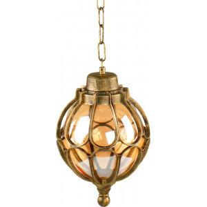 Светильник садово-парковый PL3705 60W 230V E27 180*180*290мм  черное золото (на цепочке)