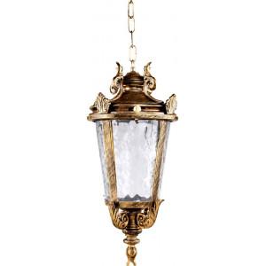 Светильник садово-парковый PL4005 60W 230V E27 230*230*460мм  черное золото (на цепочке)