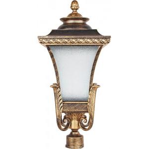Светильник садово-парковый PL4025 60W 230V E27 240*240*545мм  черное золото, (на столб)