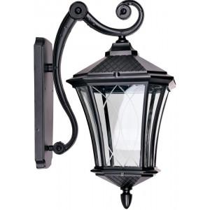 Светильник садово-парковый PL4032 60W 230V E27 230*305*460мм  черный (на стену вниз)