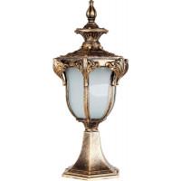 Светильник садово-парковый PL4043 60W 230V E27 200*175*430мм черное золото (на постамент)