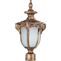 Светильник садово-парковый PL4045 60W 230V E27 200*175*370мм черное золото (на столб)