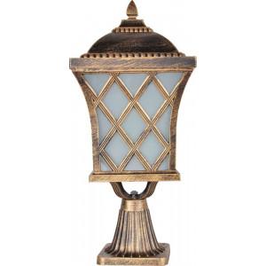 Светильник садово-парковый PL4063 60W 230V E27 235*235*530мм черное золото (на постамент)