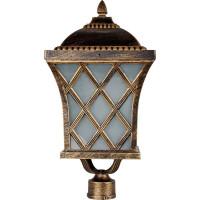 Светильник садово-парковый PL4065 60W 230V E27 235*235*465мм черное золото (на столб)