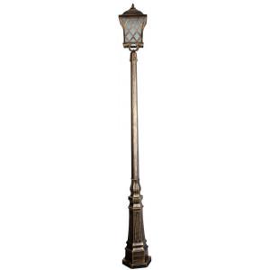 Светильник садово-парковый PL4067 60W 230V E27 235*235*2290мм черное золото (столб 2,29 м.)