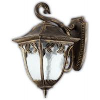 Светильник садово-парковый PL4072 60W 230V E27  245*180*360ММ черное золото (на стену вниз)