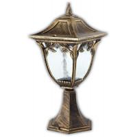 Светильник садово-парковый PL4074 60W 230V E27  180*180*390ММ черное золото (на постамент)