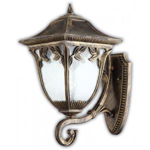 Светильник садово-парковый PL4081 100W 230V E27 320*230*470MM черное золото (на стену вверх)