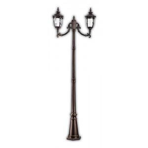 Светильник садово-парковый PL5008 60W 230V E27 680*190*2200MM темно-коричневое золото (столб 2,2M)