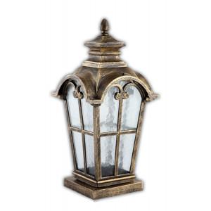 Светильник садово-парковый PL5105 100W 230V E27 230*230*490MM черное золото (на постамент)