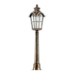 Светильник садово-парковый PL5107 100W 230V E27 230*230*1400MM черное золото (столб 1,4M)