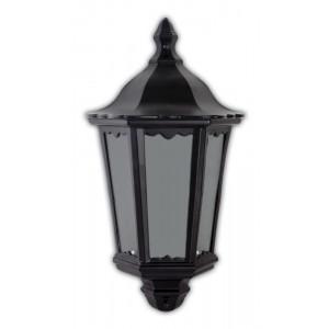 Светильник садово-парковый 6206 60W 230V E27 240*110*435MM черный (половинка на стену)