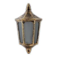 Светильник садово-парковый 4206 60W 230V E27 195*100*355MM черное золото (половинка на стену)