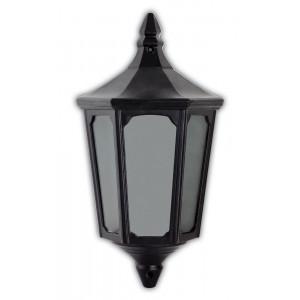 Светильник садово-парковый 4206 60W 230V E27 195*100*355MM черный (половинка на стену)