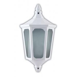Светильник садово-парковый 4206 60W 230V E27 195*100*355MM белый (половинка на стену)