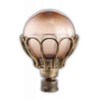 Светильник садово-парковый PL5053 100W 230V E27 285*285*370MM черное золото (на столб)