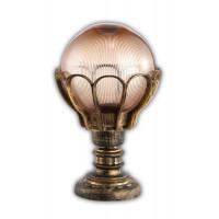 Светильник садово-парковый PL5054 100W 230V E27 285*285*435MM черное золото (на постамент)