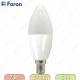 Лампа светодиодная, Свеча 16LED (7W) 230V E14 2700K, LB-97