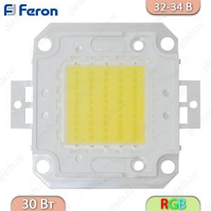 Светодиодный чип LB-1130, 30W RGB, 32-34V, 1050 МА, угол обз. 120' (кристалл 35*0,024)
