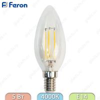 LB-58 4LED(5W) 230V E14 4000K филамент свеча